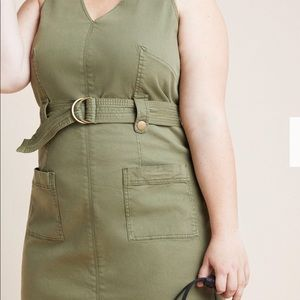 Dresses & Skirts - Anthropologie sleeveless safari dress $150. Sz 26w